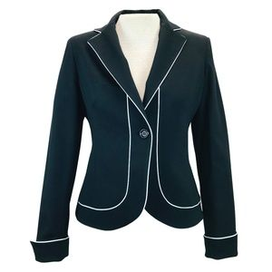 Jones New York Black White Blazer Jacket 6